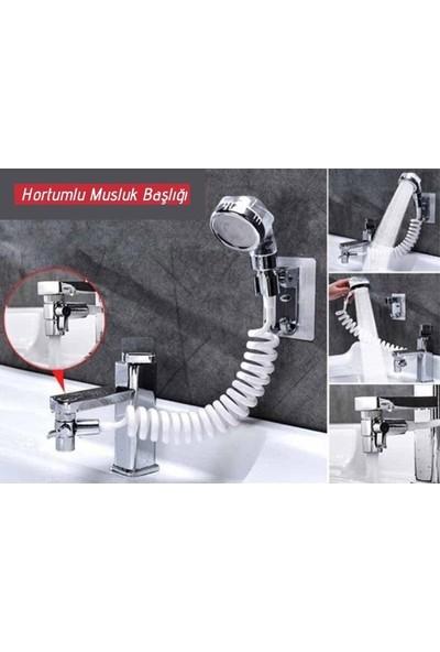 İkonya Spiral Hortumlu Ayarlanabilir Hareketli Banyo Mutfak Lavabo Musluk Duş Başlığı