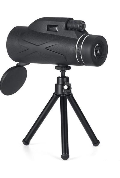 Triline 80X Dürbün Zoom Tek Göz Monoküler Hd El Teleskobu