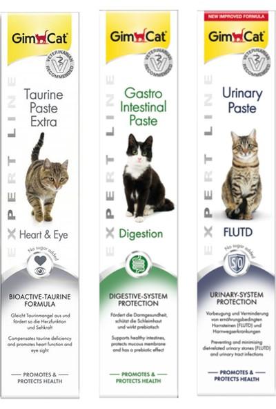 Gimcat Taurine 50 gr + Gastro 50 gr + Urinary 50 gr Paste Kedi Macunları