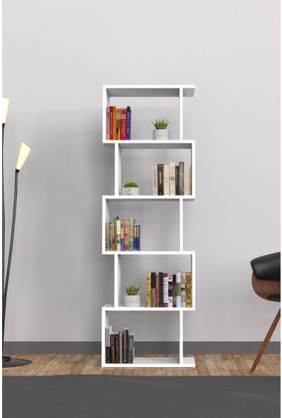 Mimilos K10 Dekoratif 5 Beş Raflı Modüler Zikzak Kitaplık