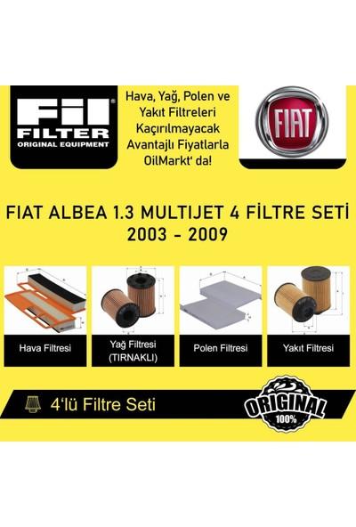 Fil Filter Fiat Albea 1.3 Multijet 2003 - 2009 4'lü Filtre Seti