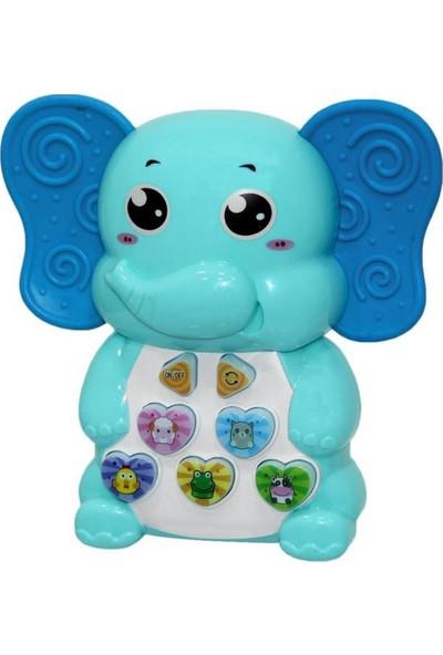 Birlik Oyuncak Babycim Neşeli Fil Mavi 126-C
