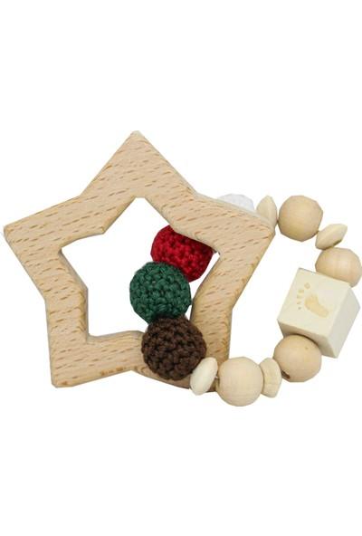 Bone Dea New Year Organik Amigurumi Diş Kaşıyıcı - Kırmızı-Yeşil