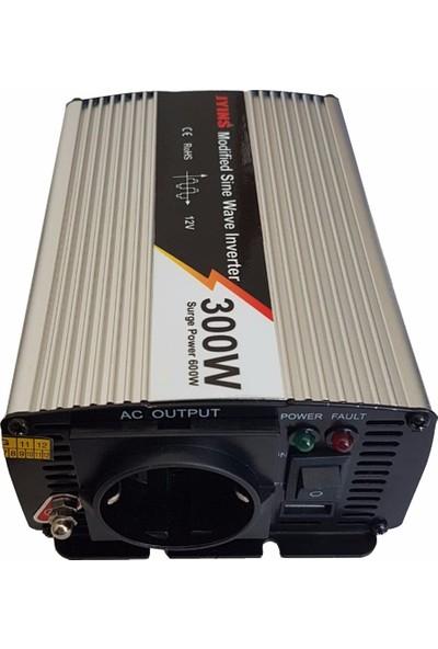 Jyins Modifiye Sinüs Inverter 300 Watt 12V USB Çıkışlı Jyıns