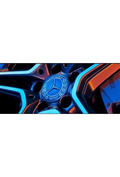 OEM Mercedes Jant Göbeği Kabartmalı 75 mm (4'lü Set)