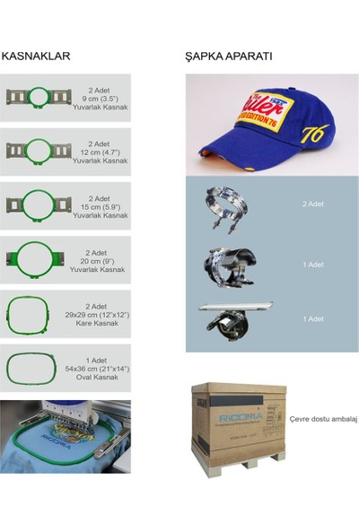 Ricoma RCM1501TC-7S Tek Kafa 15 Iğne Nakış Makinesi