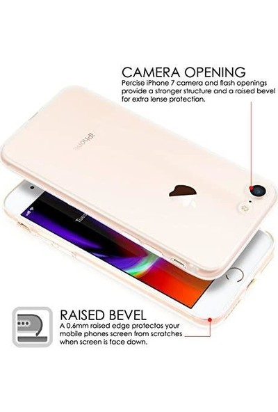 Apple iPhone Se 2020 Kılıf Süper Silikon Kamera Korumalı