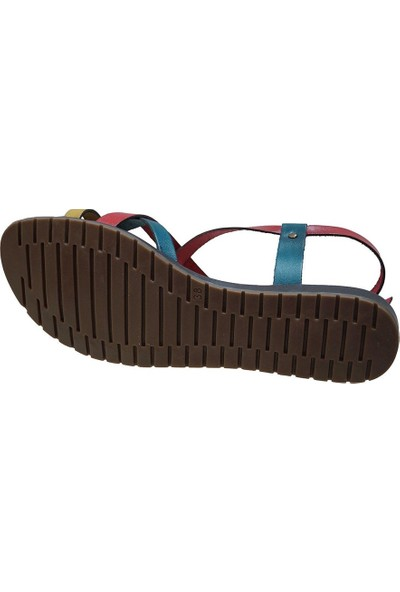 Ustalar Ayakkabı Çok Renkli Deri Kadın Parmak Arası Sandelet 087.365