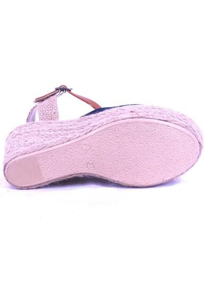Ustalar Ayakkabı Lacivert Kadın Dolgutopuk Sandelet 006.2330
