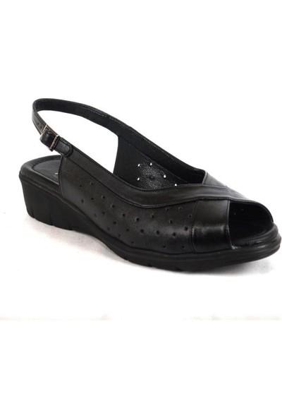 Ustalar Ayakkabı Siyah Kadın Dolgu Sandalet 278.816