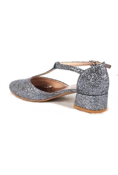 Ustalar Ayakkabı Antrasit Kız Çocuk Topuklu Ayakkabı 051