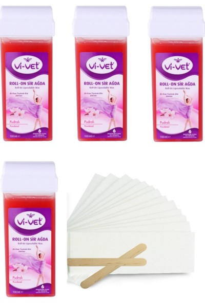 Vi-Vet Roll-On Sir Ağda Pudralı 100 ml x 4