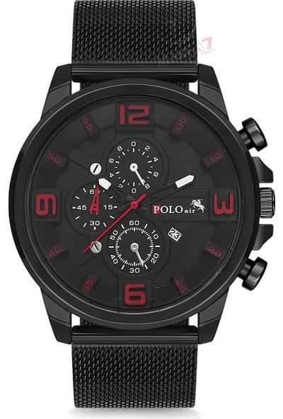 Polo Air Erkek Kol Saati ve Cüzdan Kemer Anahtarlık Bileklik Kombini PL-0108E4