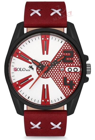 Polo Air Erkek Kol Saati ve Cüzdan Kemer Anahtarlık Bileklik Kombini PL-0095E4