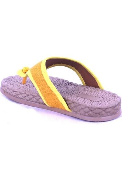 Ustalar Ayakkabı Sarı Kadın Parmak Arası Terlik 532.15