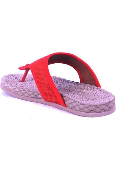 Ustalar Ayakkabı Kırmızı Kadın Parmak Arası Terlik 532.15