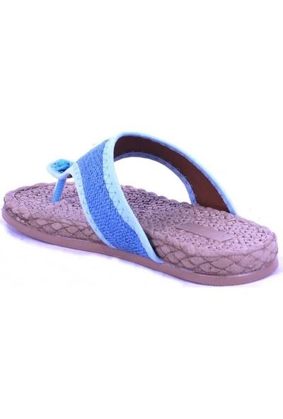 Ustalar Ayakkabı Mavi Kadın Parmak Arası Terlik 532.15