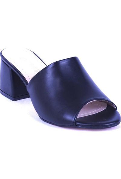 Ustalar Ayakkabı Siyah Kadın Topuklu Terlik 535.2021