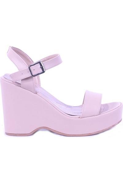 Ustalar Ayakkabı Krem Kadın Dolgu Sandalet 495.1000