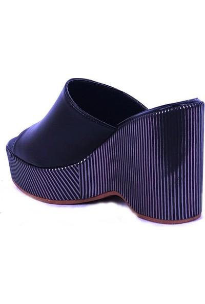 Ustalar Ayakkabı Siyah Kadın Dolgu Terlik 495.1015