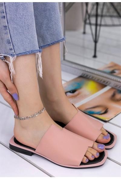 Ustalar Ayakkabı Pudra Kadın Günlük Parmakarası Terlik 537.31