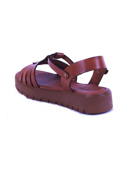 Ustalar Ayakkabı Taba Kadın Dolgu Topuk Sandelet 319.307