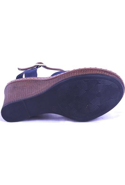 Ustalar Ayakkabı Lacivert Kadın Dolgu Sandalet 494.402