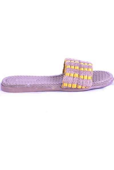 Ustalar Ayakkabı Sarı Kadın Terlik 097.1005.Y.T.818