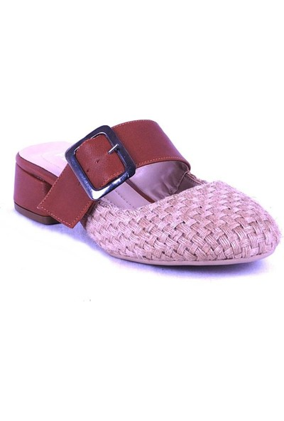 Ustalar Ayakkabı Taba Kadın Topuklu Terlik 319.551