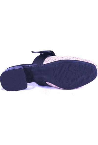 Ustalar Ayakkabı Siyah Kadın Topuklu Terlik 319.551