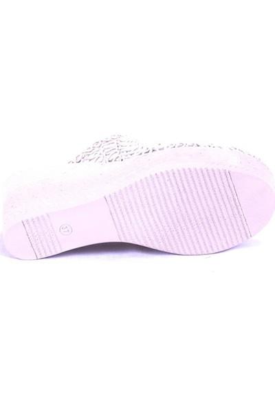 Ustalar Ayakkabı Bej Kadın Dolgu Terlik 319.01.B1