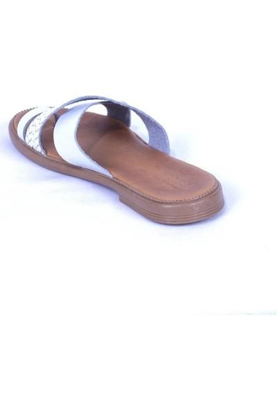 Ustalar Ayakkabı Beyaz Kadın Parmak Arası Terlik 539.01
