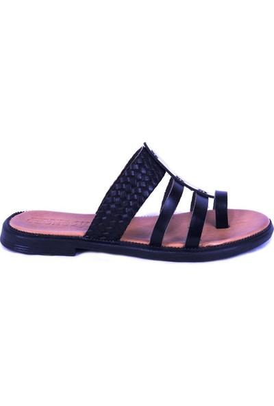 Ustalar Ayakkabı Siyah Kadın Parmak Arası Terlik 539.02