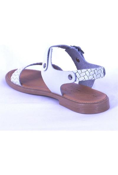 Ustalar Ayakkabı Beyaz Kadın Sandalet 539.03
