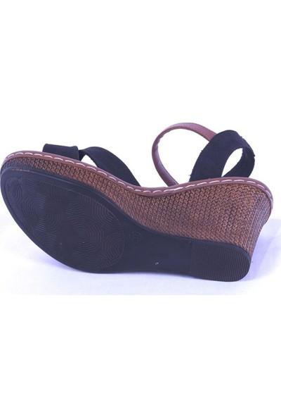 Ustalar Ayakkabı Siyah Kadın Dolgu Sandalet 494.402