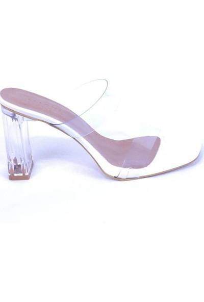 Ustalar Ayakkabı Beyaz Şeffaf Kadın Terlik 524.1061
