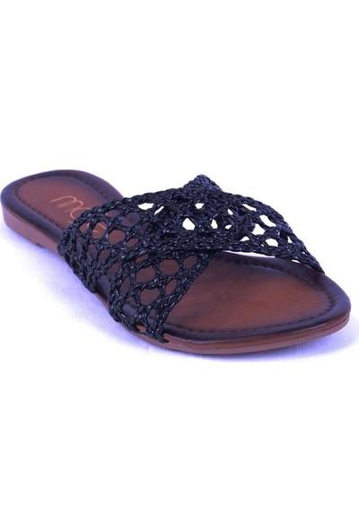 Ustalar Ayakkabı Siyah Kadın Terlik 036.7154