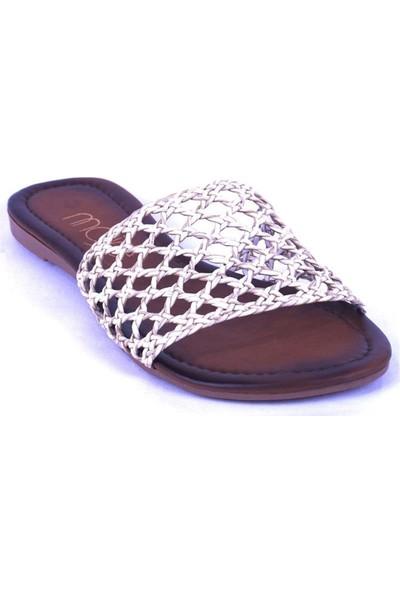Ustalar Ayakkabı Kırık Beyaz Kadın Terlik 036.7153