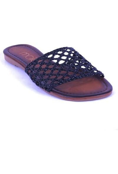 Ustalar Ayakkabı Siyah Kadın Terlik 036.7153