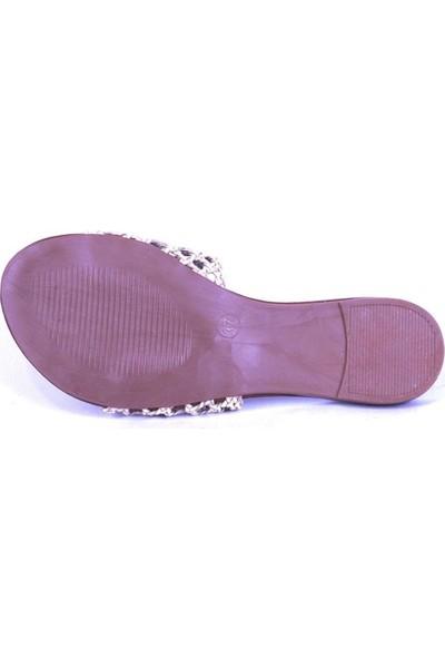 Ustalar Ayakkabı Beyaz Kadın Terlik 036.7153