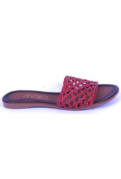 Ustalar Ayakkabı Kırmızı Kadın Terlik 036.7153