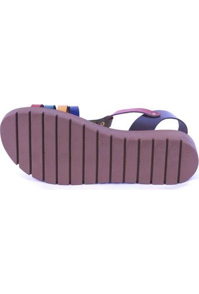 Ustalar Ayakkabı Çok Renkli Kadın Dolgu Topuk Sandelet 319.307