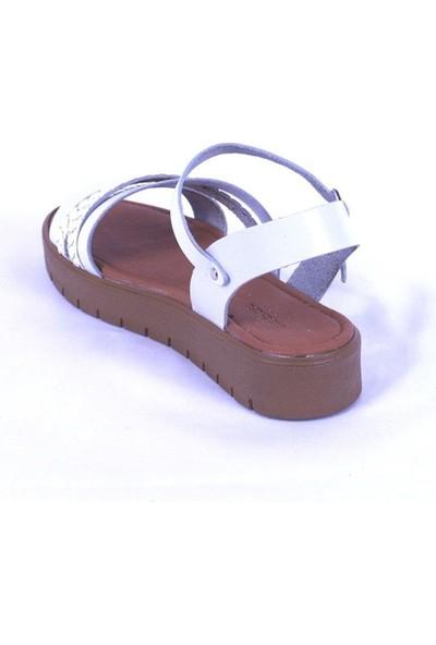 Ustalar Ayakkabı Beyaz Kadın Dolgu Topuk Sandelet 319.321