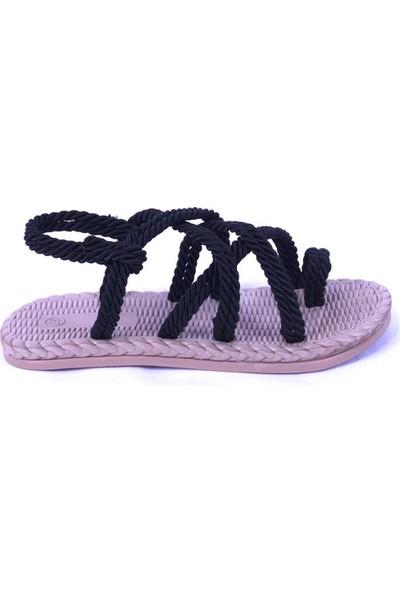 Ustalar Ayakkabı Siyah Kadın Sandalet 319.500.09