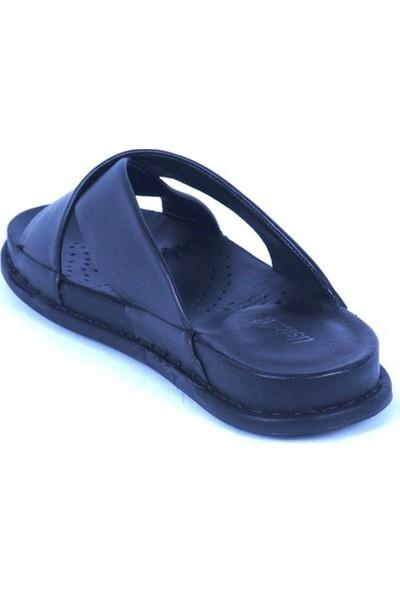 Ustalar Ayakkabı Siyah Deri Kadın Terlik 213.S-200