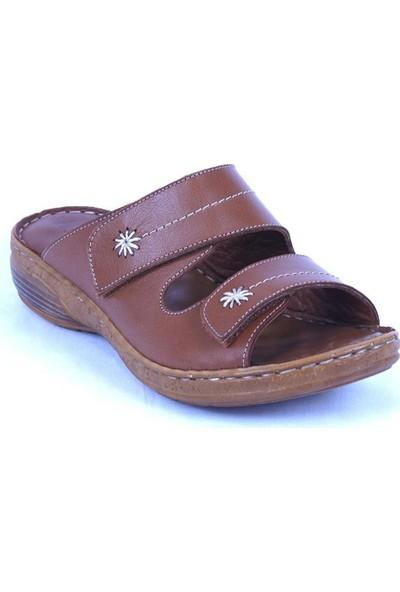 Ustalar Ayakkabı Taba Deri Kadın Terlik 213.519