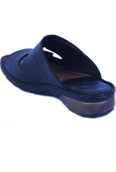 Ustalar Ayakkabı Siyah Deri Kadın Terlik 213.519