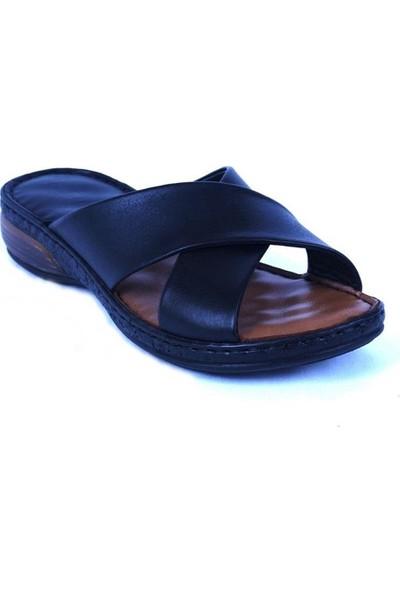 Ustalar Ayakkabı Siyah Deri Kadın Terlik 213.515