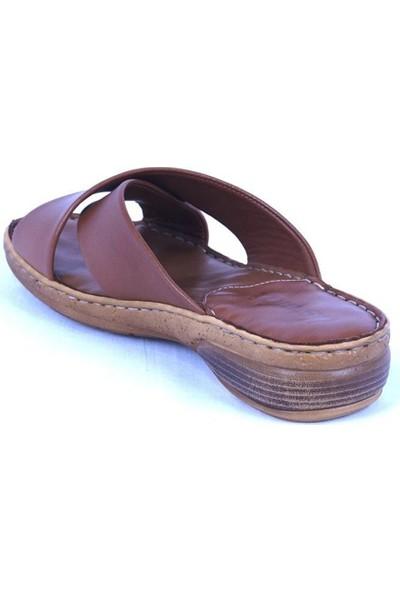Ustalar Ayakkabı Taba Deri Kadın Terlik 213.515