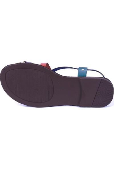 Ustalar Ayakkabı Çok Renkli Kadın Parmak Arası Sandalet 319.102